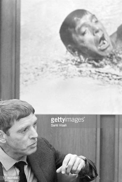 Actor Burt Lancaster at a press conference on May 16 1967 in New York New York