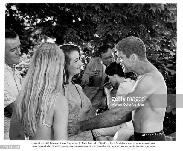 Actor Burt Lancaster in a scene from the Columbia Pictures movie 'The Swimmer' circa 1968