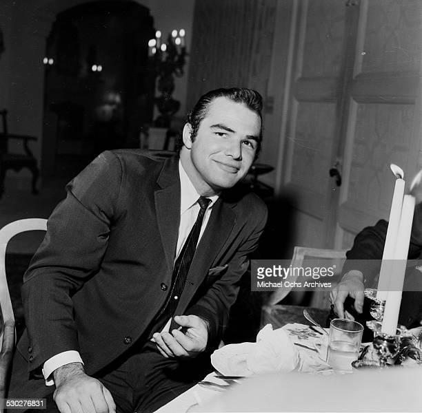 Actor Burt Reynolds attends an informal dinner with friends in Los AngelesCA