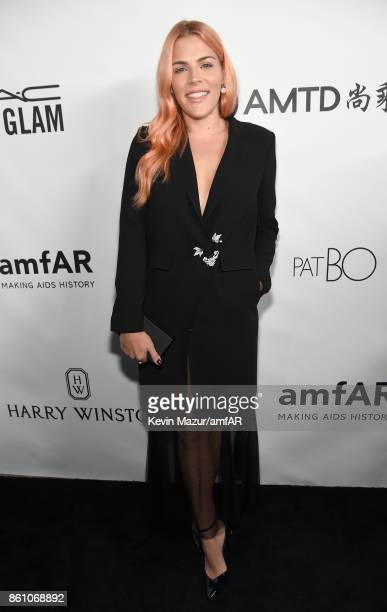 Actor Busy Philipps attends the amfAR Gala Los Angeles 2017 at Ron Burkle's Green Acres Estate on October 13 2017 in Beverly Hills California
