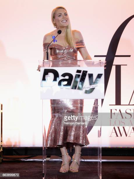 Actor Busy Philipps speaks onstage during the Daily Front Row's 3rd Annual Fashion Los Angeles Awards at Sunset Tower Hotel on April 2 2017 in West...