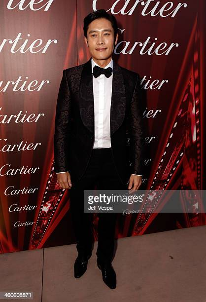 Actor Byunghun Lee arrives at the 25th annual Palm Springs International Film Festival awards gala at Palm Springs Convention Center on January 4...
