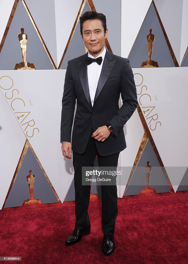 Actor Byung-Hun Lee arrives at the 88th Annual Academy Awards at Hollywood & Highland Center on February 28, 2016 in Hollywood, California.