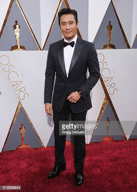 Actor ByungHun Lee arrives at the 88th Annual Academy Awards at Hollywood Highland Center on February 28 2016 in Hollywood California