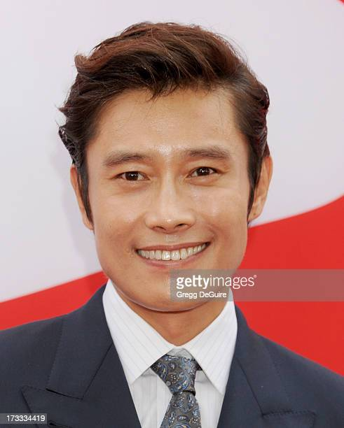 Actor Byunghun Lee arrives at the Los Angeles premiere of 'Red 2' at Westwood Village on July 11 2013 in Los Angeles California