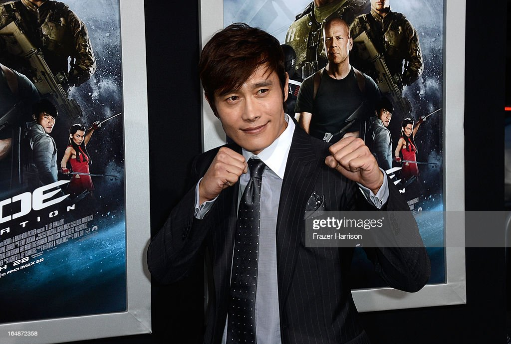 Actor Byung-Hun Lee arrives at the Premiere of Paramount Pictures' 'G.I. Joe: Retaliation' at TCL Chinese Theatre on March 28, 2013 in Hollywood, California.
