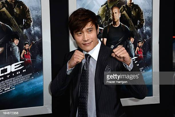 Actor ByungHun Lee arrives at the Premiere of Paramount Pictures' 'GI Joe Retaliation' at TCL Chinese Theatre on March 28 2013 in Hollywood California