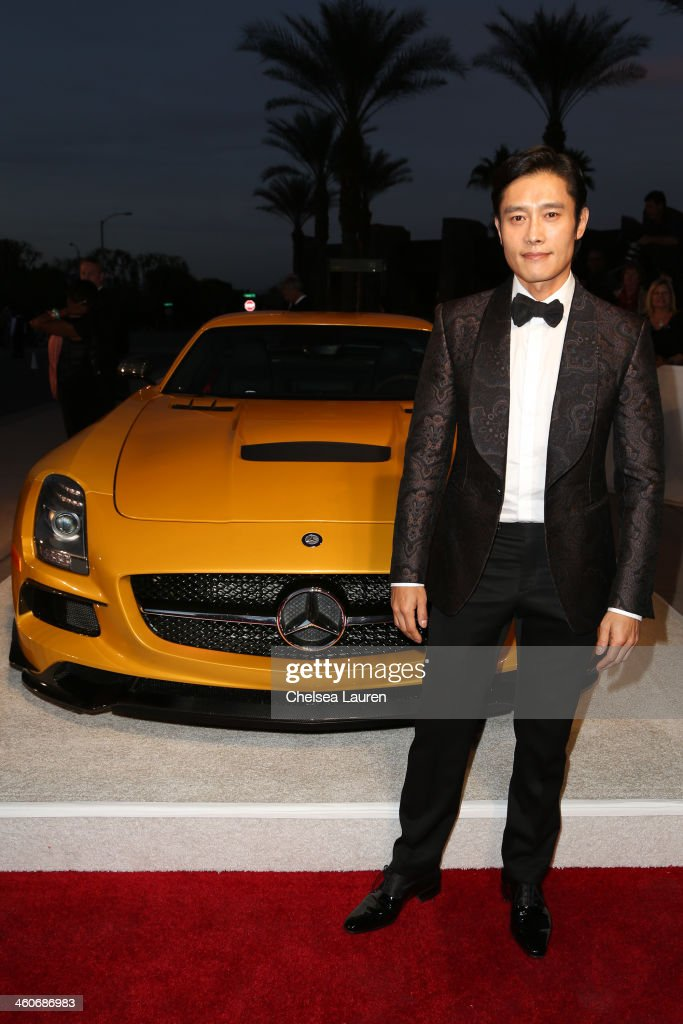 Actor Byung-hun Lee arrives in style during the Mercedes-Benz arrivals at the 25th Annual Palm Springs International Film Festival Awards Gala onJanuary 4, 2014 in Palm Springs, California.