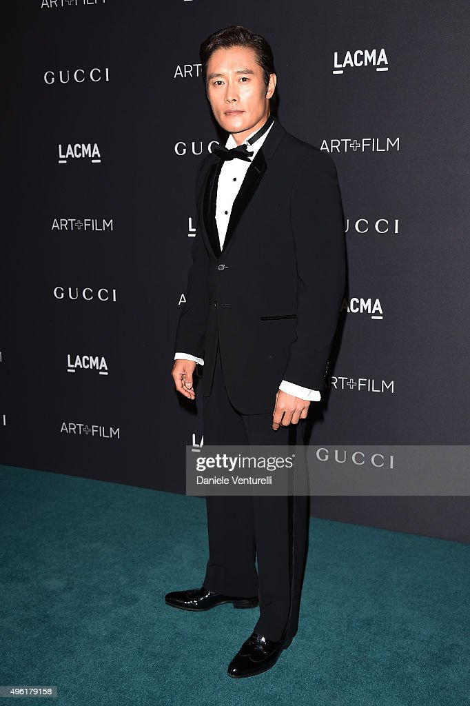 Actor Byung-hun Lee attends LACMA 2015 Art+Film Gala Honoring James Turrell and Alejandro G Iñárritu, Presented by Gucci at LACMA on November 7, 2015 in Los Angeles, California.