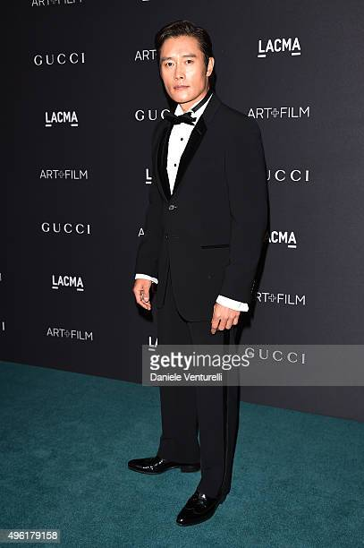 Actor Byunghun Lee attends LACMA 2015 ArtFilm Gala Honoring James Turrell and Alejandro G Iñárritu Presented by Gucci at LACMA on November 7 2015 in...