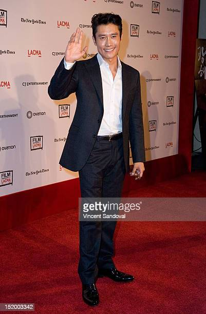Actor ByungHun Lee attends the Film Independent at LACMA screening Of 'Masquerade' at Bing Theatre At LACMA on September 14 2012 in Los Angeles...