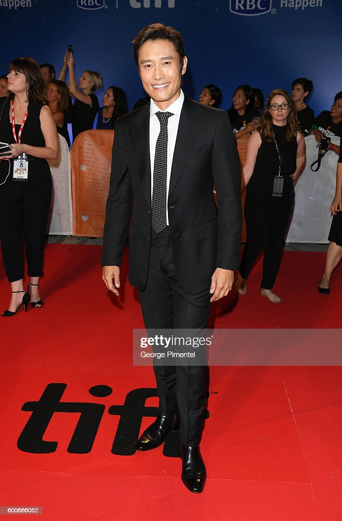 Actor Byung-hun Lee attends 'The Magnificent Seven' premiere during the 2016 Toronto International Film Festival at Roy Thomson Hall on September 8, 2016 in Toronto, Canada.