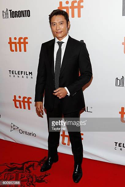 Actor ByungHun Lee attends the world premiere of 'The Magnificent Seven' during the 2016 Toronto International Film Festival at Roy Thomson Hall on...