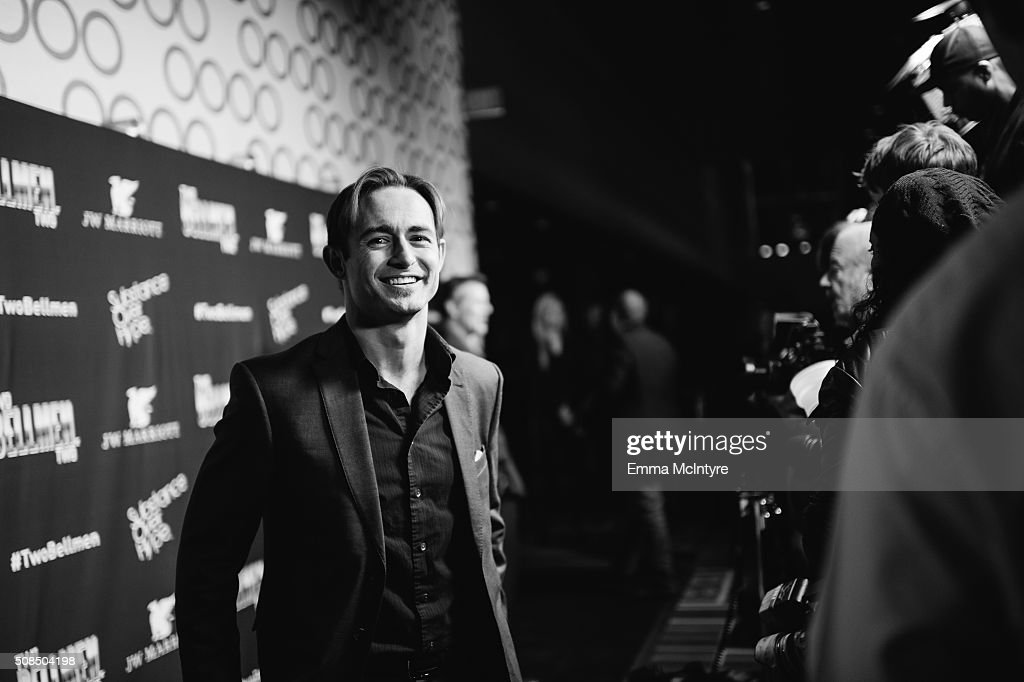 Actor Caine Sinclair arrives at the world premiere of 'Two Bellmen Two' at JW Marriott Los Angeles at LA LIVE on February 4 2016 in Los Angeles...