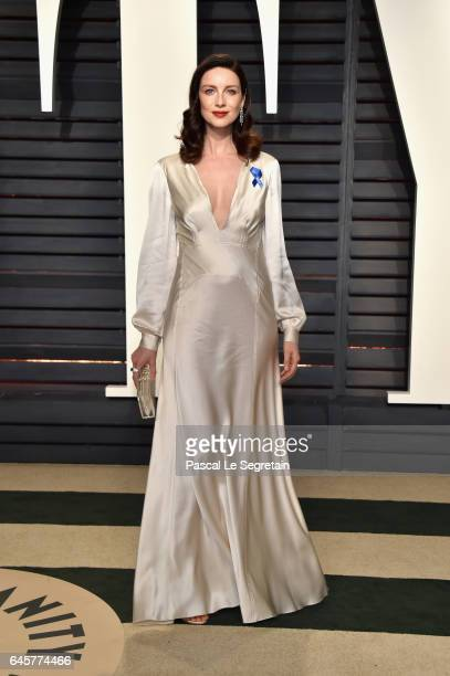 Actor Caitriona Balfe attends the 2017 Vanity Fair Oscar Party hosted by Graydon Carter at Wallis Annenberg Center for the Performing Arts on...