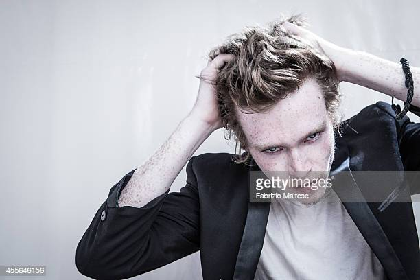 Actor Caleb Landry Jones is photographed for Self Assignment on August 30 2014 in Venice Italy