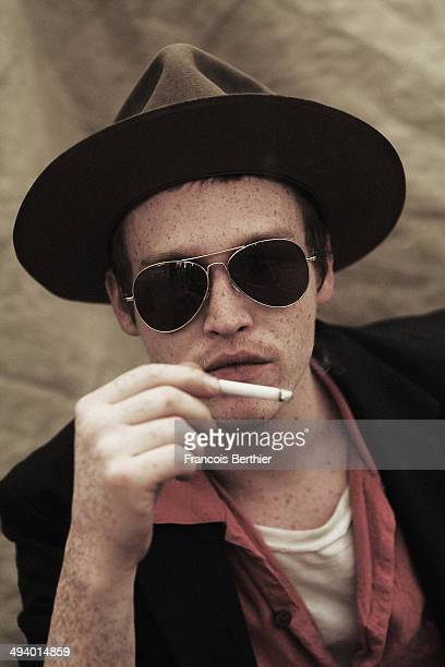 Actor Caleb Landry Jones is photographed for Self Assignment on May 21 2014 in Cannes France