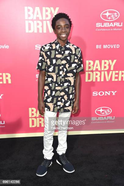 Actor Caleb McLaughlin arrives at the Premiere of Sony Pictures' 'Baby Driver' at Ace Hotel on June 14 2017 in Los Angeles California