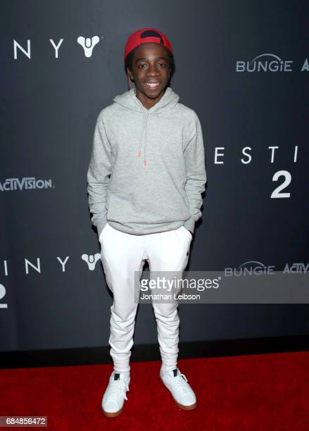 Actor Caleb McLaughlin attends Activision And Bungie Celebrate The Gameplay World Premiere Of 'Destiny 2' at Jet Center Los Angeles on May 18 2017 in...