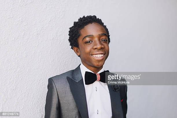 Actor Caleb McLaughlin attends 'Finn Wolfhard Caleb McLaughlin and Noah Schnapp prepare for the 74th annual Golden Globes Awards' on January 8 2017...