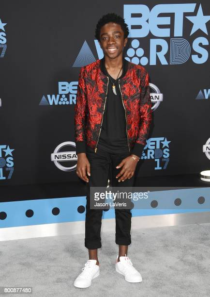 Actor Caleb McLaughlin attends the 2017 BET Awards at Microsoft Theater on June 25 2017 in Los Angeles California