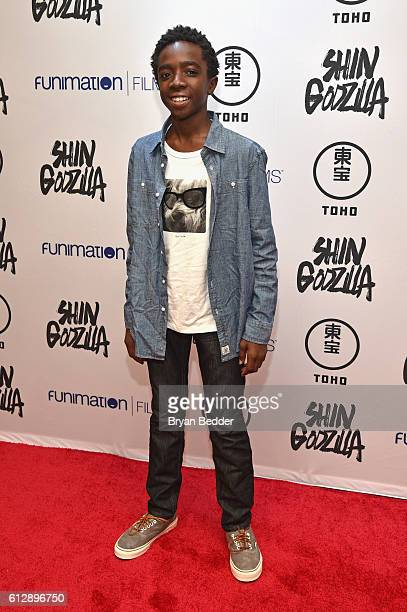 Actor Caleb McLaughlin attends the 'Shin Godzilla' premiere presented by Funimation Films at AMC Empire 25n2016 New York Comic Con on October 5 2016...
