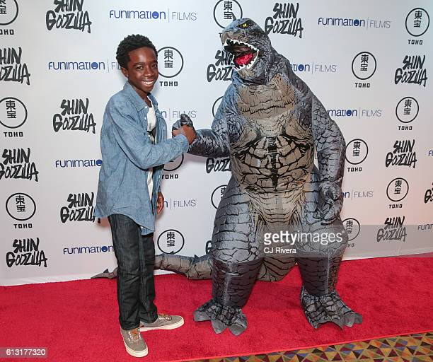 Actor Caleb McLaughlin of 'Stranger Things' attends 'Shin Godzilla' New York Comic Con Premiere on October 5 2016 in New York City