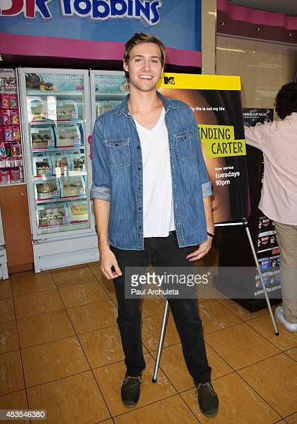 Actor Caleb Ruminer attends the MTV's 'Finding Carter' fan event at BaskinRobbins on August 12 2014 in Burbank California