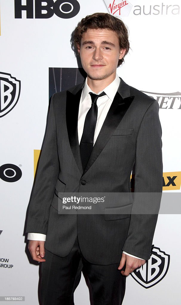 Actor <a gi-track='captionPersonalityLinkClicked' href=/galleries/search?phrase=Callan+McAuliffe&family=editorial&specificpeople=6694662 ng-click='$event.stopPropagation()'>Callan McAuliffe</a> arrives at the Australians In Film Benefit Dinner at the InterContinental Hotel on October 24, 2013 in Century City, California.
