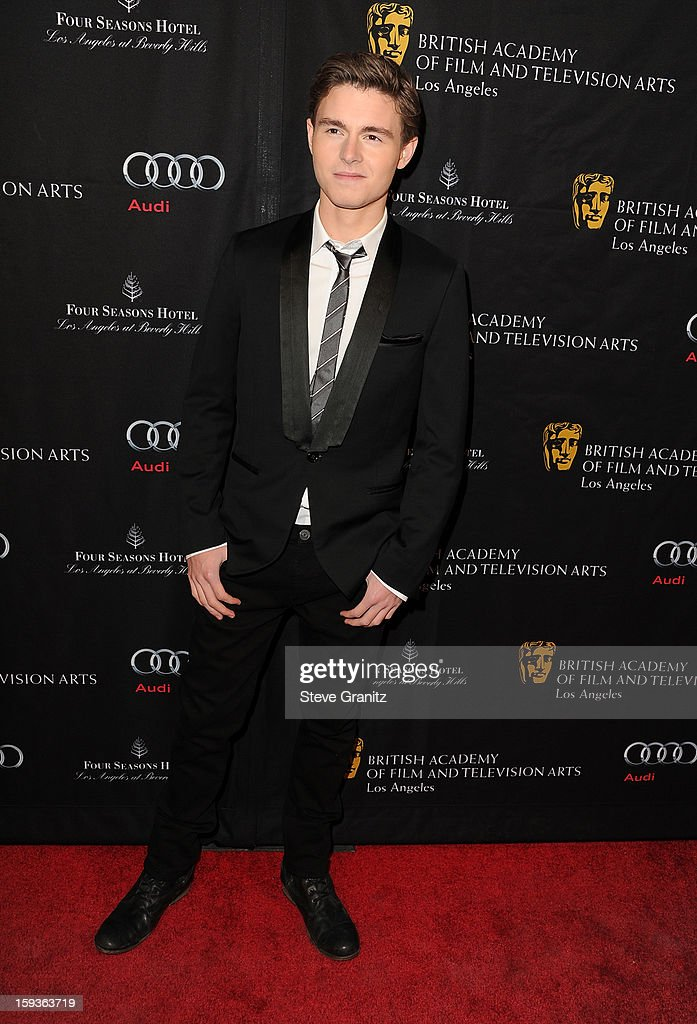 Actor <a gi-track='captionPersonalityLinkClicked' href=/galleries/search?phrase=Callan+McAuliffe&family=editorial&specificpeople=6694662 ng-click='$event.stopPropagation()'>Callan McAuliffe</a> arrives at the BAFTA Los Angeles 2013 Awards Season Tea Party held at the Four Seasons Hotel Los Angeles on January 12, 2013 in Los Angeles, California.
