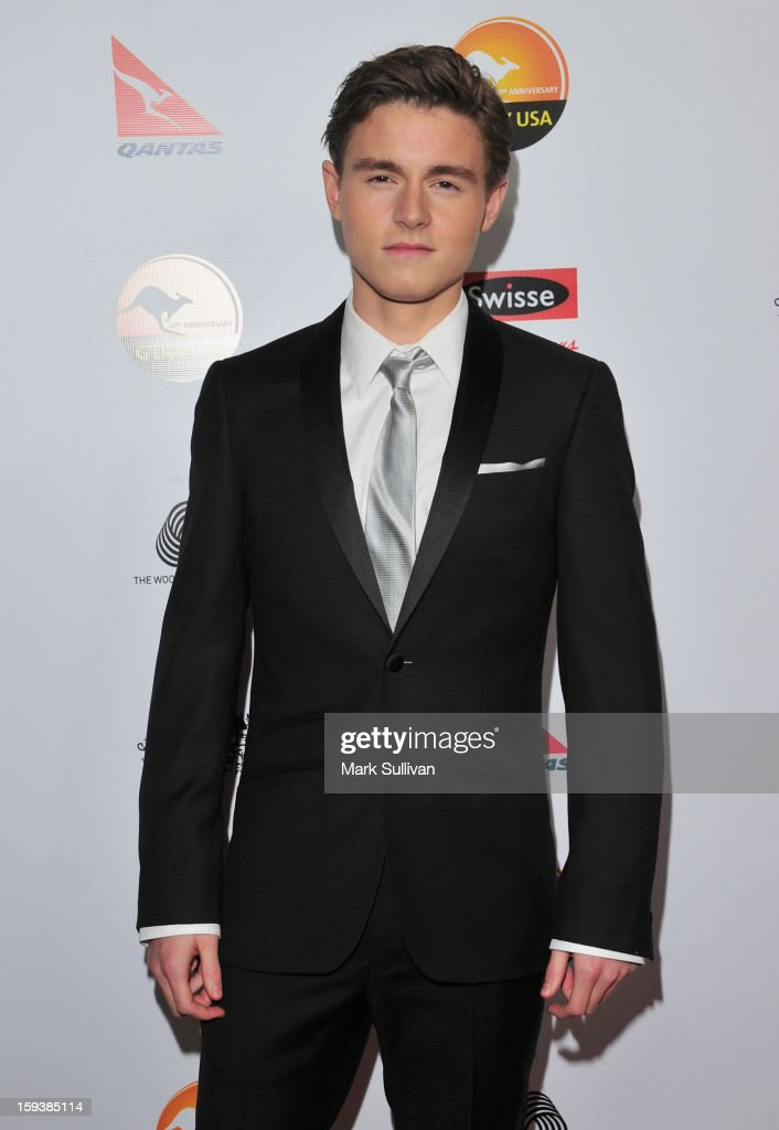 Actor Callan McAuliffe arrives for the G'Day USA Black Tie Gala held at at the JW Marriot at LA Live on January 12, 2013 in Los Angeles, California.