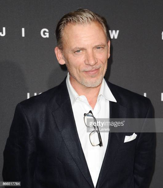 Actor Callum Keith Rennie attends the premiere of 'Jigsaw' at ArcLight Hollywood on October 25 2017 in Hollywood California