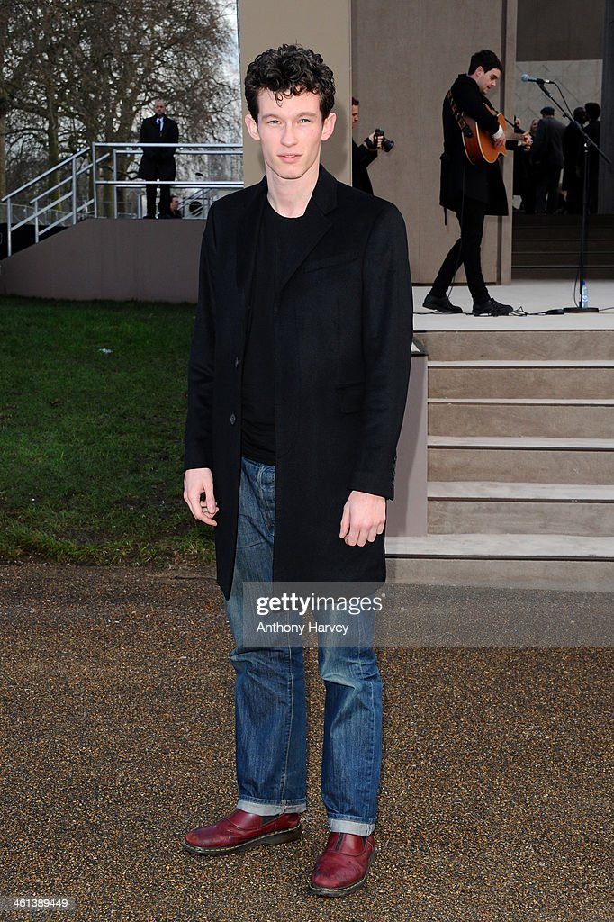Actor Callum Turner attends the Burberry Prorsum show during The London Collections: Men Autumn/Winter 2014 on January 8, 2014 in London, England.