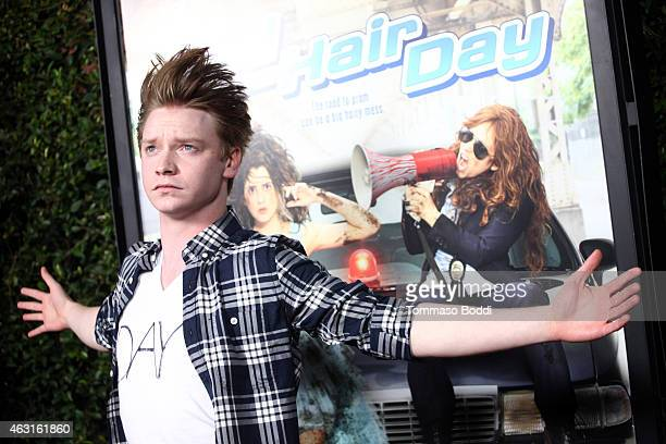 Actor Calum Worthy attends the Disney Channel Original Movie 'Bad Hair Day' Los Angeles premiere held at the Walt Disney Studios on February 10 2015...