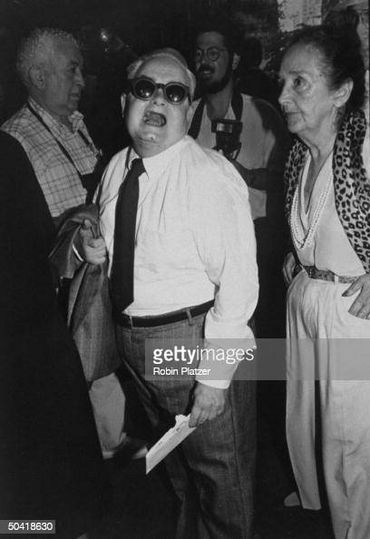 Actor Calvert DeForest wearing sunglasses at premiere of film Great Balls of Fire