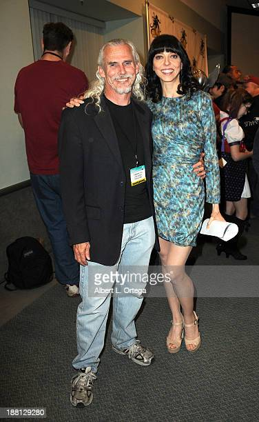 Actor Camden Toy and actress Juliet Landau attends Stan Lee's Comikaze Expo Presented By POW Entertainment Day 1 held at Los Angeles Convention...