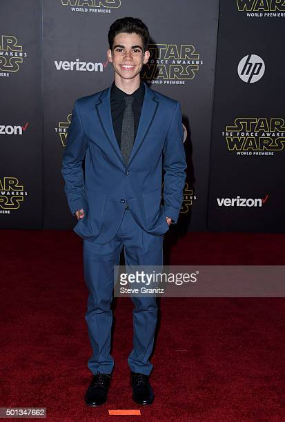 Actor Cameron Boyce arrives at the premiere of Walt Disney Pictures' and Lucasfilm's 'Star Wars The Force Awakens' at the Dolby Theatre TCL Chinese...