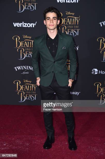 Actor Cameron Boyce attends Disney's 'Beauty and the Beast' premiere at El Capitan Theatre on March 2 2017 in Los Angeles California