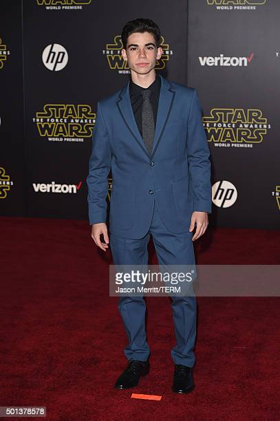 Actor Cameron Boyce attends Premiere of Walt Disney Pictures and Lucasfilm's 'Star Wars The Force Awakens' on December 14 2015 in Hollywood California