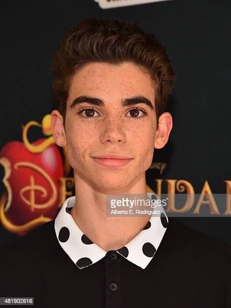 Actor Cameron Boyce attends the premiere of Disney Channel's 'Descendants' at Walt Disney Studios on July 24 2015 in Burbank California