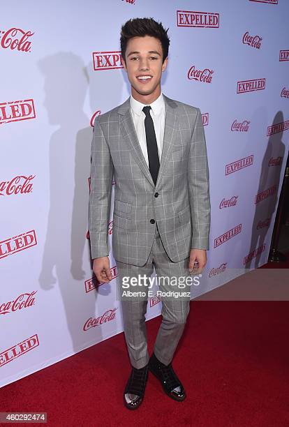 Actor Cameron Dallas attends the premiere of Awesomeness TV's 'EXPELLED' at Westwood Village Theatre on December 10 2014 in Westwood California