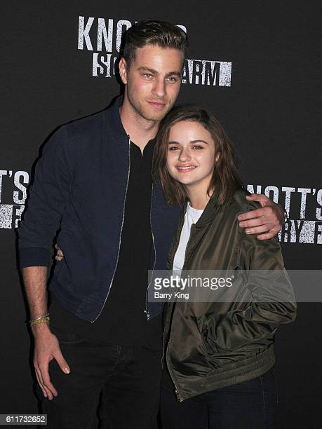 Actor Cameron Fuller and actress Joey King attend Knott's Scary Farm black carpet event at Knott's Berry Farm on September 30 2016 in Buena Park...