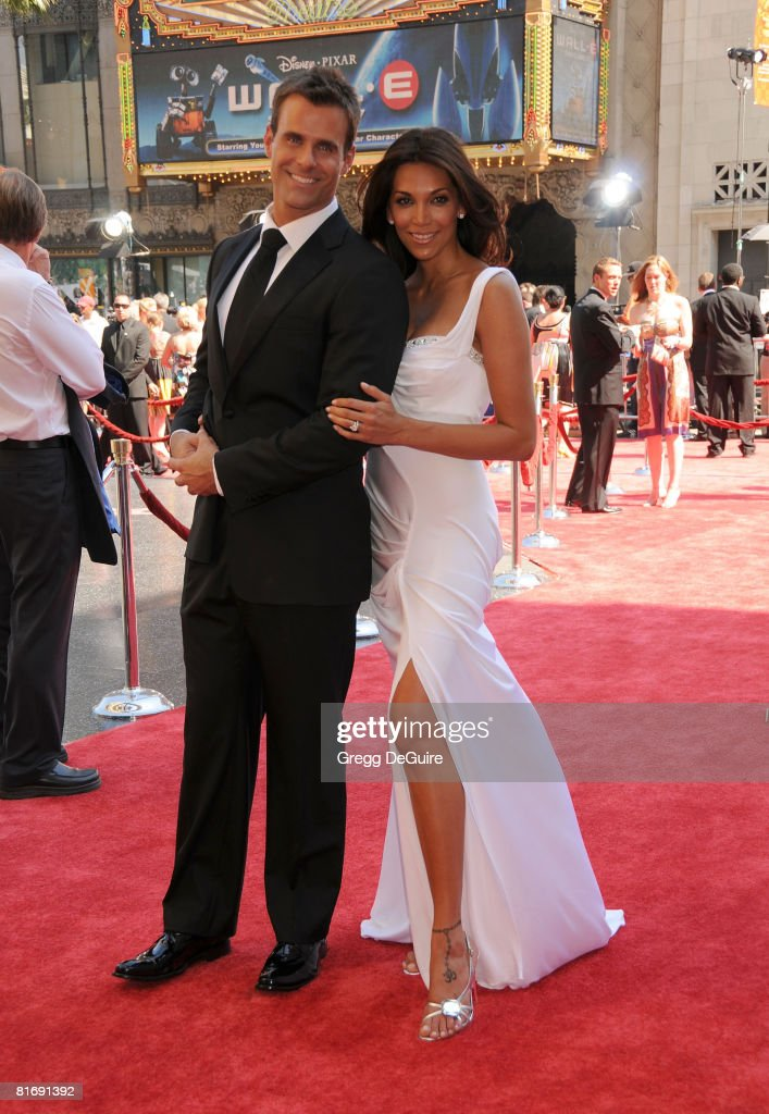 Actor Cameron Mathison and his wife Vanessa Arevalo arrive at the 35th Annual Daytime Emmy Awards at the Kodak Theatre on June 20, 2008 in Los Angeles, California.