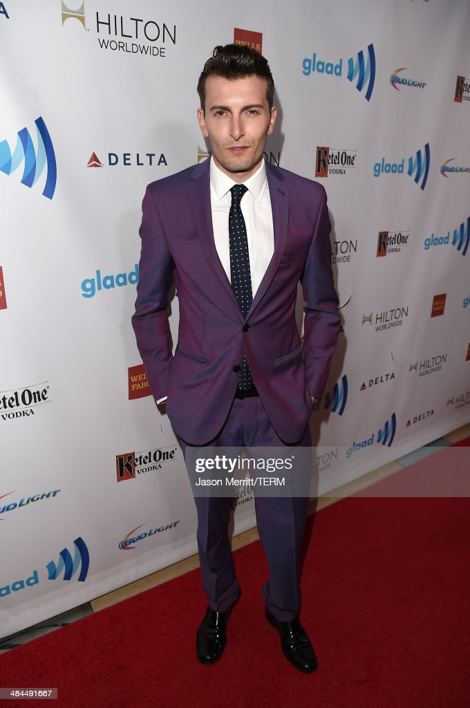 Actor Cameron Moir attends the 25th Annual GLAAD Media Awards at The Beverly Hilton Hotel on April 12, 2014 in Los Angeles, California.