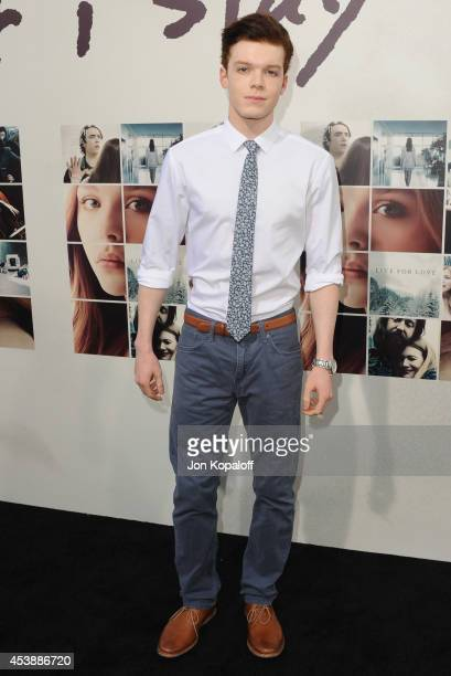 Actor Cameron Monaghan arrives at the Los Angeles Premiere 'If I Stay' at TCL Chinese Theatre on August 20 2014 in Hollywood California