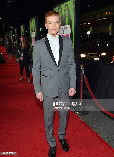 Actor Cameron Monaghan arrives at The Weinstein Company's premiere of 'Vampire Academy' at Regal 14 at LA Live Downtown on February 4 2014 in Los...