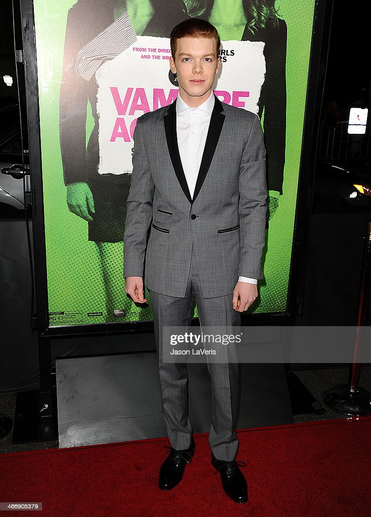 Actor <a gi-track='captionPersonalityLinkClicked' href=/galleries/search?phrase=Cameron+Monaghan&family=editorial&specificpeople=764741 ng-click='$event.stopPropagation()'>Cameron Monaghan</a> attends the premiere of 'Vampire Academy' at Regal Cinemas L.A. Live on February 4, 2014 in Los Angeles, California.