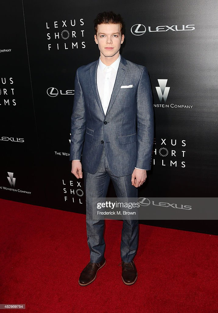Actor <a gi-track='captionPersonalityLinkClicked' href=/galleries/search?phrase=Cameron+Monaghan&family=editorial&specificpeople=764741 ng-click='$event.stopPropagation()'>Cameron Monaghan</a> attends The Weinstein Company and Lexus Presents Lexus Short Films at the Regal Cinemas L.A. Live on July 30, 2014 in Los Angeles, California.