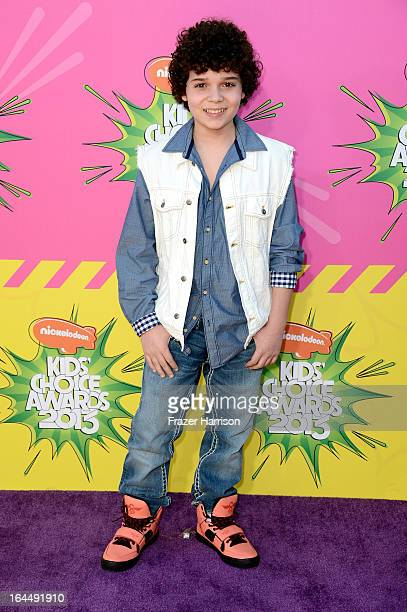 Actor Cameron Ocasio arrives at Nickelodeon's 26th Annual Kids' Choice Awards at USC Galen Center on March 23 2013 in Los Angeles California