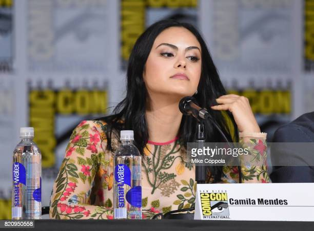 Actor Camila Mendes onstage at 'Riverdale' special video presentation and QA during ComicCon International 2017 at San Diego Convention Center on...